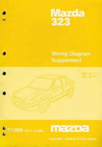 Mazda 323 BJ Series 07/1999 on Wiring Diagrams