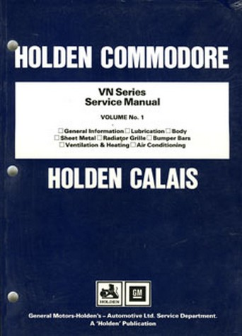 Product holden commodore vn volume 1 body heating air con 1988 1991 sciox Gallery