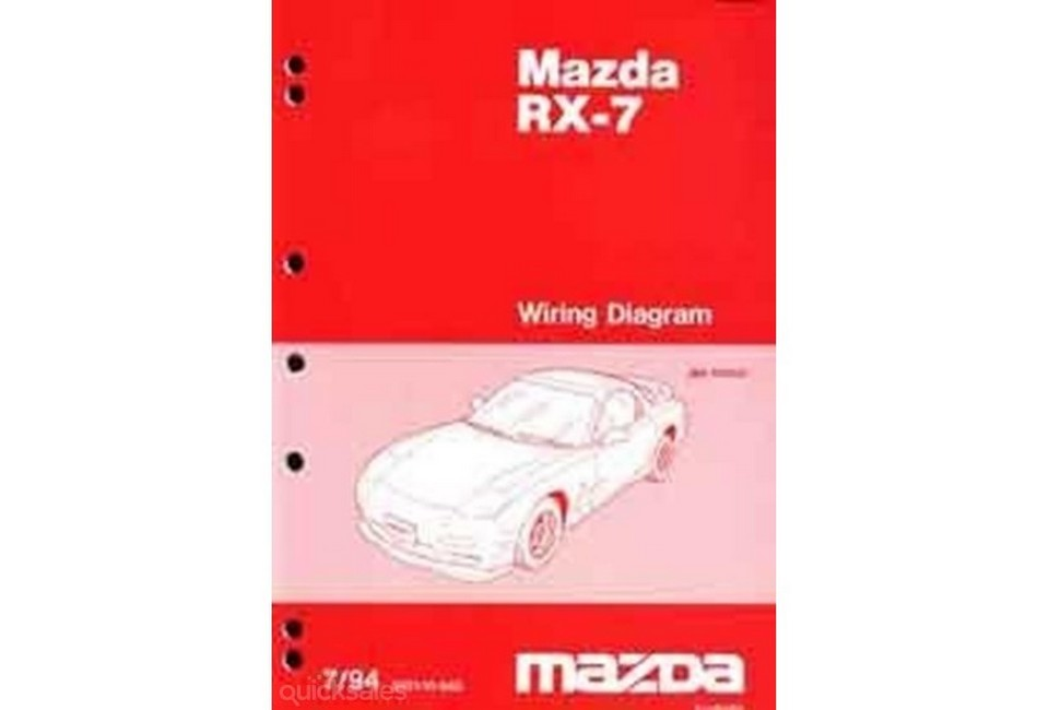 Product. Mazda Rx7 Fd 071994 On Repair Manual Supplement. Mazda. 94 Mazda Rx 7 Wiring Schematics At Eloancard.info