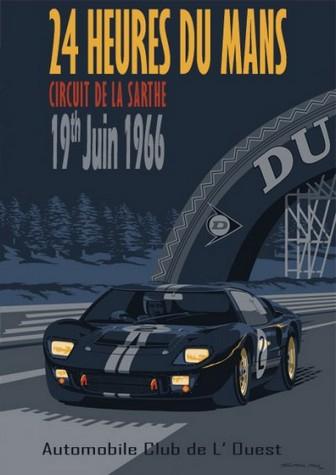 Heures Du Mans Circuit De La Sarthe Gt A Poster