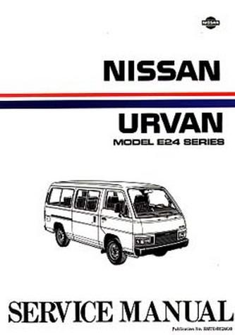 nissan urvan e24 series 1986 on repair manual