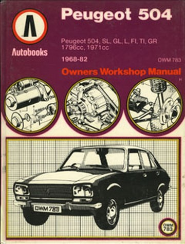 repair manual peugeot 505 daily instruction manual guides u2022 rh testingwordpress co Peugeot 505 USA Peugeot 607
