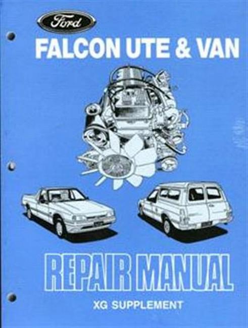 ford falcon xg ute & van 1993 repair manual supplement