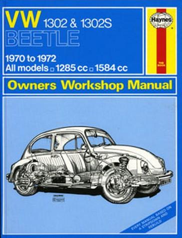 Haynes Workshop Manual VW Beetle 1970-1972 Bug 1302 1302S Service /& Repair