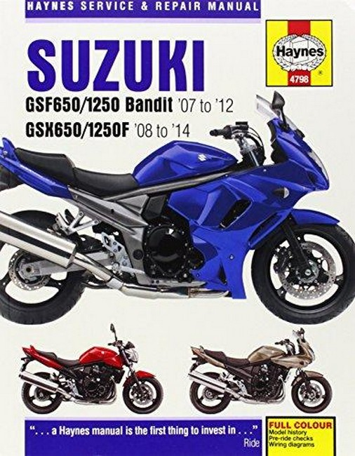 suzuki gsf650/1250 bandit & gsx650/1250f 2007-2014  service & repair manual