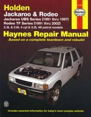 Product holden jackaroo 1991 1997 rodeo 1991 2002 petrol shop manual fandeluxe Choice Image