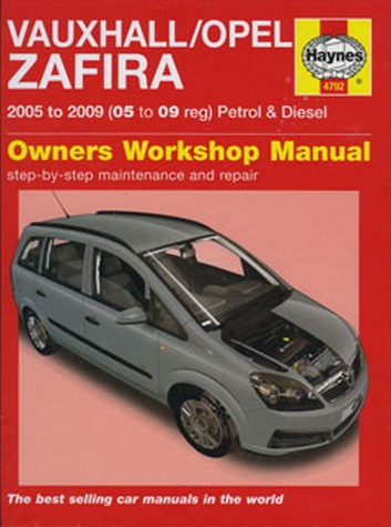 Product vauxhall opel zafira petrol diesel 2005 2009 repair manual fandeluxe Image collections